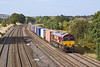 24th Sep 09:  66125 and 4O21 the 11.10 Burton on Trent to Southampton Intermodal nears Lower Basildon
