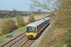 10th Apr 10:  The 14.39 service to Basingstoke from Reading formed of 165132 runs through Silchester