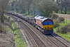 10th Apr 10:  66172 in tasked with 6N01 conveying old track pannels and used ballast from Eastleigh  to Hinksey Yard.