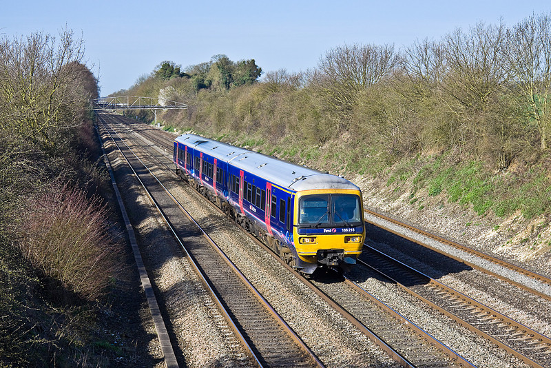 8th Apr 10:  1K41 is the 08.40 from Bedwyn to Paddington.  166218 is captured in the Up Main at Shottesbrooke