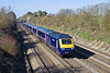 8th Apr 10:  Running slightly down is 43135 on the 07.29 from Cheltenham (1L28) as it passes through   Shottesbrooke