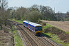 10th Apr 10:  2J30 is the 12.07 from Basingstoke to Reading formed of 165132.  Pictured nearing the bridge at Silchester
