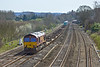 6th Apr 10:  Passing through Lower Basildon is 4M66 running a few minutes early powered by 66173 on the Southampton to Birch Coppice
