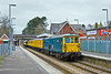 7th Apr 10: For the return to Guildford 73208 is on the point as the ensemble passes through Crowthorne