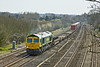 6th Apr 10:  A very clean 66567 at Lower Basildon with a liner bound for the north