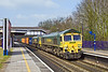 12th Apr 10:  66588 with 66503 DIT rushes through Tilehurst with 4O51 from Cardiff Wentloog to Southampton