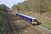 6th Apr 10:  The 09.17 from Reading to Paddington in the form of 165105 threads the Sonning Cutting