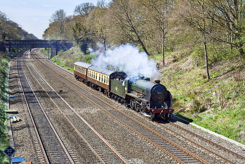 """21st Apr 10:  5Z77 is for 30777 """"Sir Lamiel"""" to work from Tyseley to Southall.  This possitions her ready to take Friday's Cathex to Stratford on Avon"""