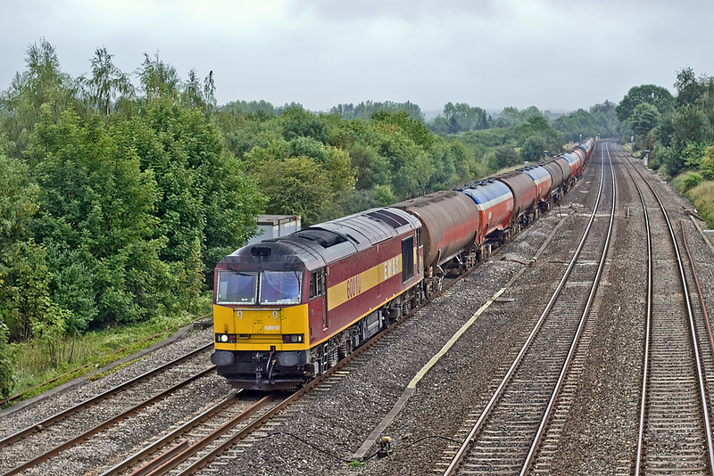 26th Aug 10:  Taking it's first turn on the returning Murco empties from Theale to Robeston is 60010.  Pictured here at Lower Basilldon