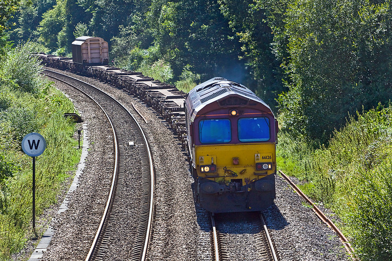 9th Aug 10:  66126 on 6V38 Marchwood to Didcot