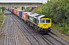 10th Aug 10:  66954 at Didcot North Junction with 4O14 from Birch Coppice to Southampton