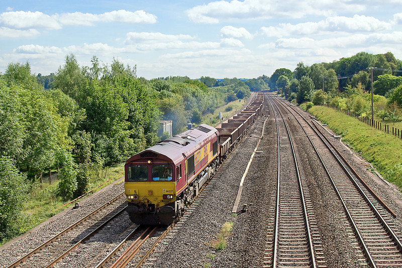 3rd Sep 10:  The Theale to Lindsey empty oil tanks, 6E55, is powered by 66051. Pictured here at Lower Basildon