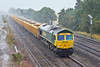 10th Aug 10:  66615 and the 12.26 from Eastleigh to Stud Farm nearing Didcot