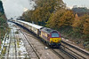 7th Dec 10:  Tail End Charlie on 1Z82 VSOE headed by35028  Clan Line is 67020.  Pictured leaving Woking