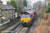7th Dec 10:  The return departmental from Eastleigh to Hoo Jct leaves Egham and passes through Pooley Green powered by 66055