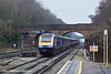 30th Dec 10:  FGW power cars 43031 & 43135 form 1O39 the 05.41 from Penzance to Waterloo.  Captured here racing through Winchfield
