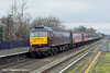 11th Dec 10:  The Christmas Statesman ran from Peterborough to Bath and Bristol.. TnT by 47786 and 47851 the train (1Z54) is seen here passing through Taplow
