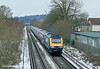 27th Dec 10:  Leaving Chertsey and crossing Addlestone Moor are 43040+43169 working 1V08 the 10.26 from Waterloo to Penzance