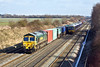 20th Feb 10: Diverted due to engineering work 66562 powers 4O14 from Birch Coppice to Southampton through Shottesbrooke