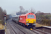 18th Feb 10:  Running 35 minutes late and in persistant rain 67018 heads 1P13 from Wrexham to Marylebone through Saunderton
