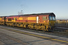 1st Jan 10:  66082 at rest in the sidings beside Didcot station