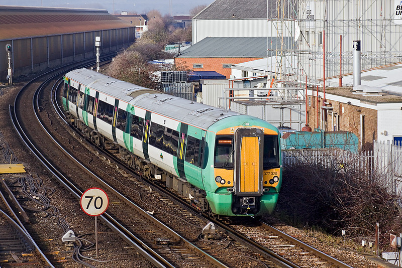 26th Jan 10:  377320 arrives at Littlehampton with 1H12 the 11.27 from Haywards Heath