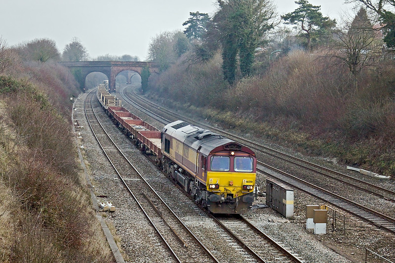 27th Jan 10:  66250 on 6V27 the afternoon departmental from Eastleigh to Hinksey at Purley on Thames