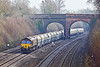 27th Jan 10:  Running rather late 66167 plods through Purley on Thames with 6B35 from Hayes to Moreton on Lugg