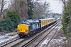 12th Jan 10:  Serco 1Q81 Top 'n Tailed by 37611 & 37610 near Datchet on the Windsor leg of the days  working which started at Westbury went to Weymouth and ended at Waterloo