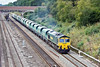 29th Jul 10:  Believed to be the first time that it has started from Avonmouth 6O56 runs through Ruscombe bound for Angerstein Wharf headed by 66530.