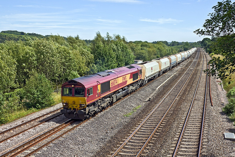 19th Jul 10:  6Z16 has 66074 on the point as it works the Hothfield to Moreton on Lugg through Lower Basildon