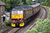 "9th Jul 10:  Tacked on the rear of 1Z95 the ""Dorset Coast Express"" is WCR 47760,  Seen here ar Pooley Green"