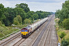 29th Jul 10: 66161 is working 6B35 from Hayes to Moreton on Lugg. Seen nearing the Southbury Lane bridge in Ruscombe
