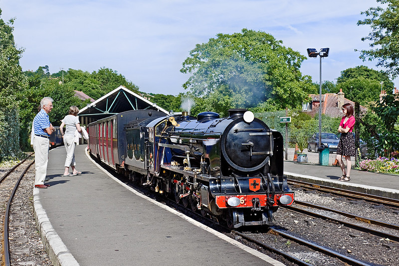1st Jul 10:  Samson prepares to take the 16.30 to Dungeness out of Hythe