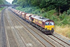 7th Jul 10:  Nearing Duffield Road in the Sonning Cutting is 66084 working 6Z20 Whatley Quarry to Hither Green