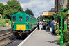 25th Jul 10:   The 2.42 pm from Medstead & Four Marks to Arlesford draws into Ropley