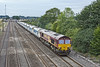 30th Jul 10:  Starting from Exeter 6C28 with loaded Hanson JHAs is powered by 66132 which will end the journey at West Drayton.  Captured here at Milley Bridge in Waltham St Lawrence