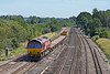 19th Jul 10:  The afternoon Departmental service from Eastleigh to Hinksey has only a short load today.  Pictured here passing through Lower Basildon