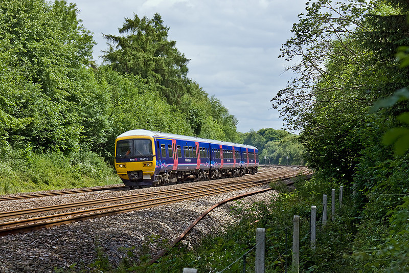 24th Jun 10:  The 12.58 from Paddington to Oxford in the cutting to the west of Pangbourne