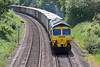 2nd Jun 10:  Belting round the curve through Silchester is 66516 at the helm of 4M61 to Trafford Park