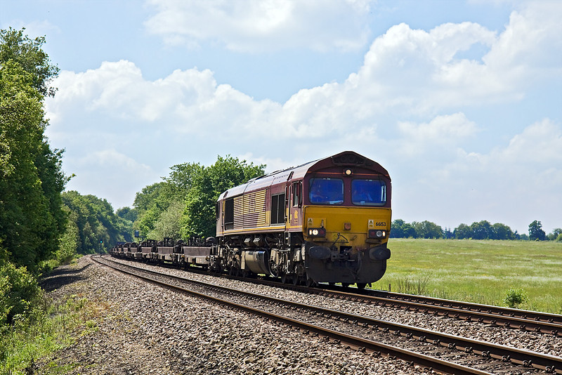 2nd Jun 10:  Charging through Grazeley is 66153 working 6M66 from Southampton to Birch Coppice