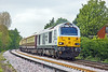19th May 10:  67029 heads the Northern Belle set on the return to Victoria from Winnersh Triangle.  Captured here on the climb away from Wokingham with 67017 on the rear