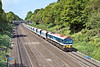 18th May 10:  59102 in charge of 7A09 from Merehead to Acton.  Pictured from the Duffield Road bridge in the Sonning cutting