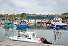 20th May 10:  The 14.14 (1L34) departure from Lymington Pier crosses the harbour at Lymington