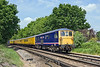 26th May 10:  Serco 1Q26 with 73141 now leading nears Frimley Junction on the Ascot to Guildford leg of the day's work.