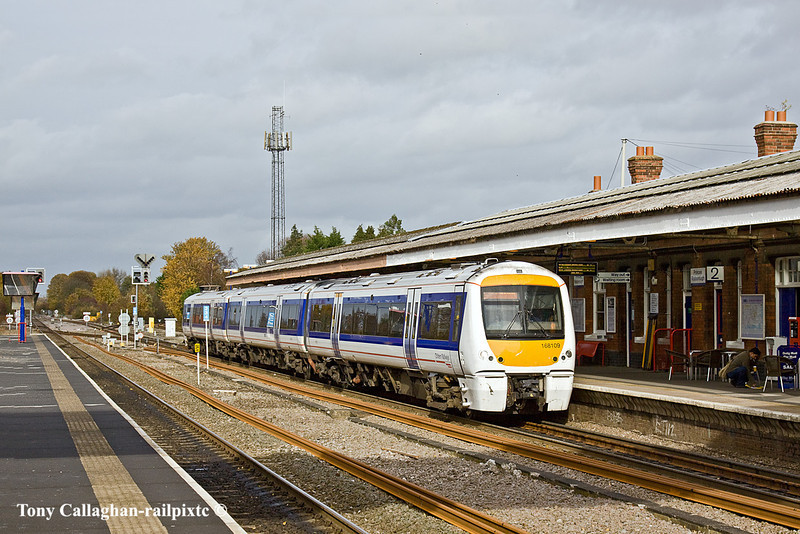 3rd Nov 10:  The 11.12 from Birmingham Snow Hill stops at Princes Risborough.  168109 will now run non stop to Marylebone
