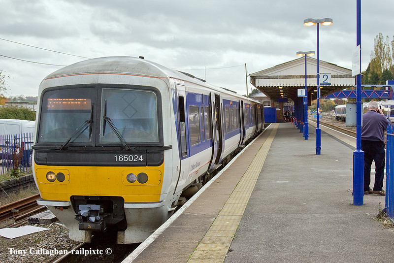 3rd Nov 10:  165024 is waiting to depart from Princes Risborough with the 12.11 to Aylesbury