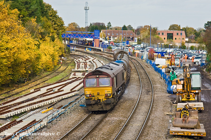 3rd Nov 10:  66017 brings up the rear of the Water Cannon train at Princes Risborough
