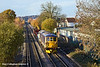 28th Nov 10:  Wending it's way from Epsom to Eastleigh is 73212. 7G13 is pictured here crossing Addlestone Moor in Chertsey.
