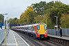 27th Oct 10:  Running 5 minutes late, as it runs into Virginia Water, is 2C19 the 08.50 Waterloo to Reading with 458015 as the leading unit.  This was a test shot for the steam hauled VSOE due to follow shortly